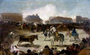 Corrida de Toros en un pueblo